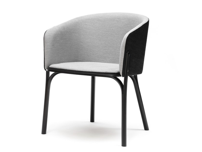 Upholstered easy chair SPLIT | Easy chair by TON