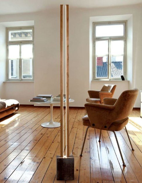 LED wooden floor lamp LUBOIS LT - CINIER Radiateurs Contemporains