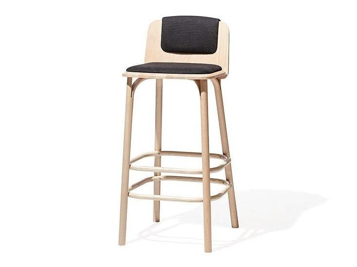 Upholstered counter stool SPLIT | Counter stool - TON