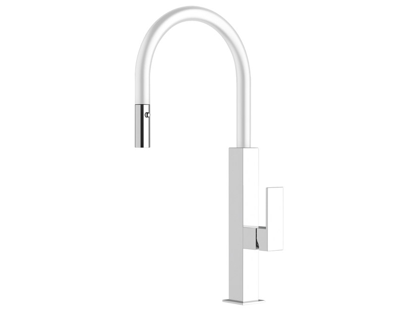 Kitchen mixer tap with pull out spray QK 73 B | Kitchen mixer tap - Remer Rubinetterie
