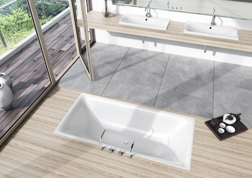 Vasca da bagno in acciaio smaltato da incasso silenio kaldewei italia - Vasche da bagno in acciaio smaltato ...