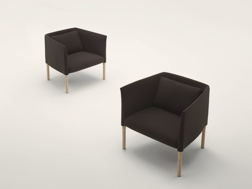 Upholstered armchair with armrests ELSIE | Armchair by Paola Lenti