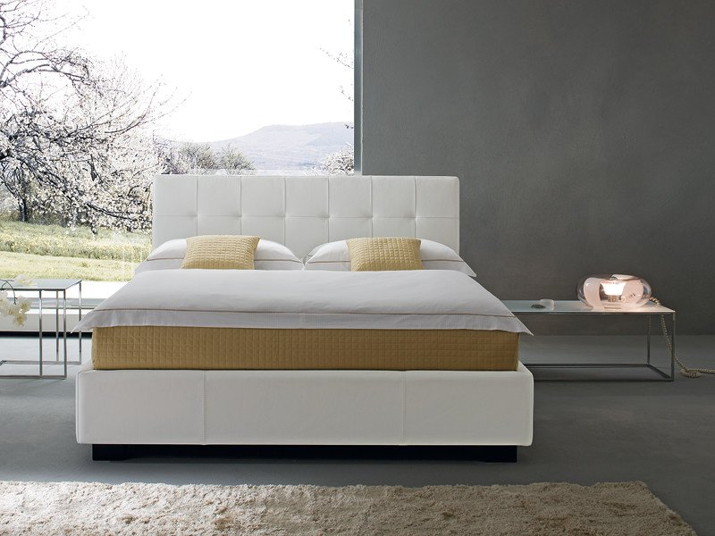 Upholstered double bed MATISSE - Divanidea