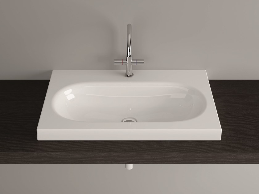 Countertop rectangular enamelled steel washbasin BETTECOMODO | Countertop washbasin - Bette