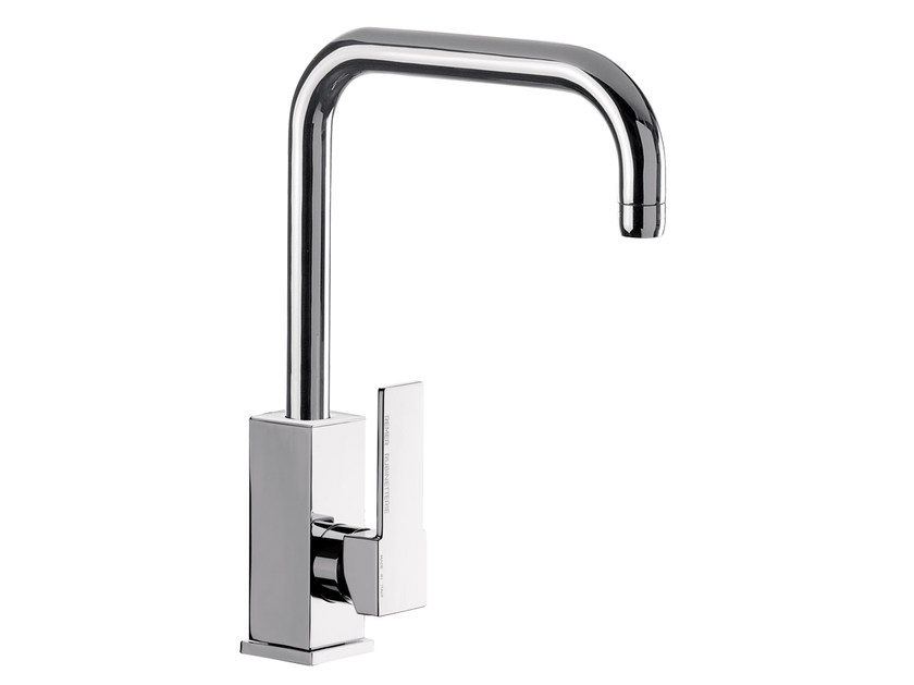 Countertop chromed brass kitchen mixer tap with swivel spout Q 72 | Kitchen mixer tap - Remer Rubinetterie