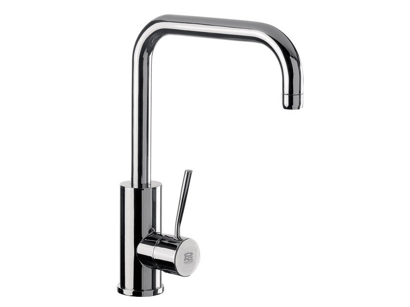 Chromed brass kitchen mixer tap with swivel spout N 72 | Kitchen mixer tap - Remer Rubinetterie