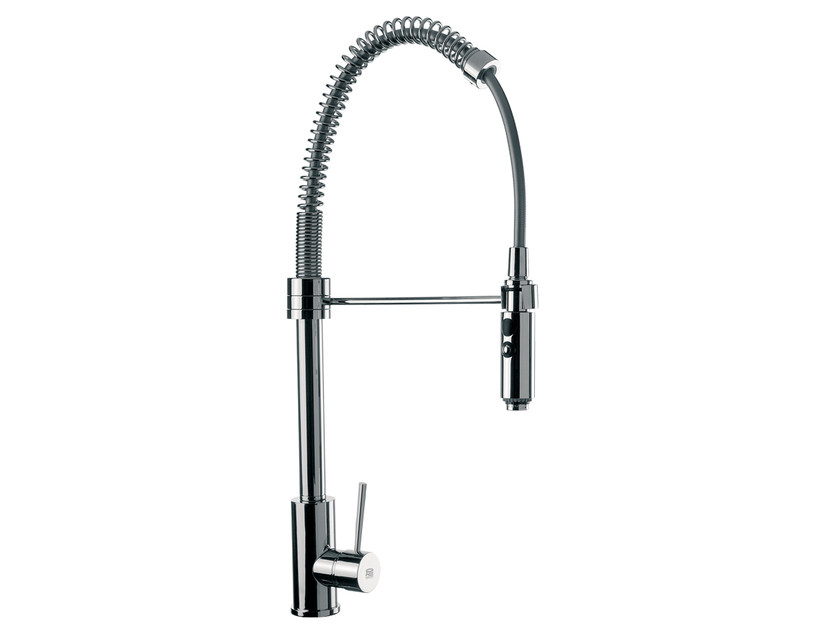 Countertop kitchen mixer tap with spray N 77   Kitchen mixer tap - Remer Rubinetterie