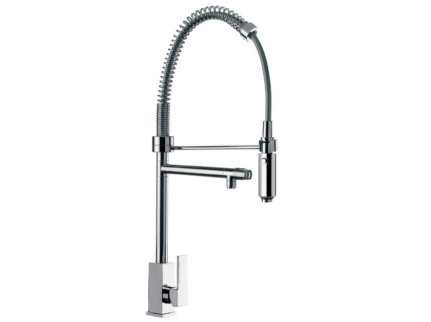 Countertop 1 hole kitchen mixer tap with spray Q 78 | Kitchen mixer tap - Remer Rubinetterie