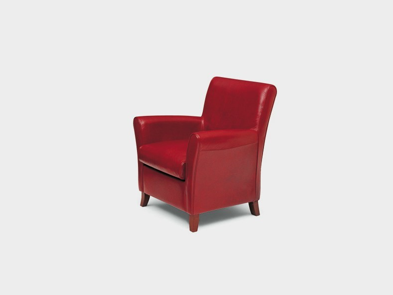 Upholstered armchair with armrests RONALD   Upholstered armchair by Divanidea