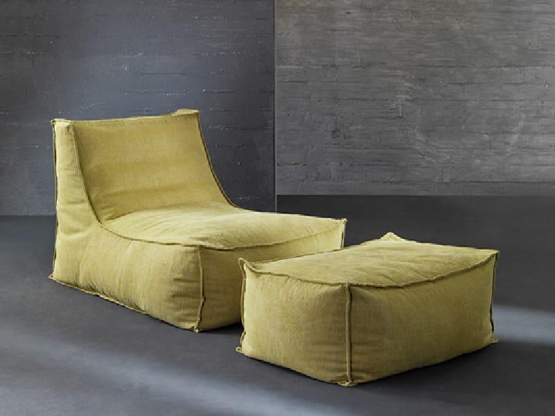 Upholstered fabric armchair LOLA - Divanidea