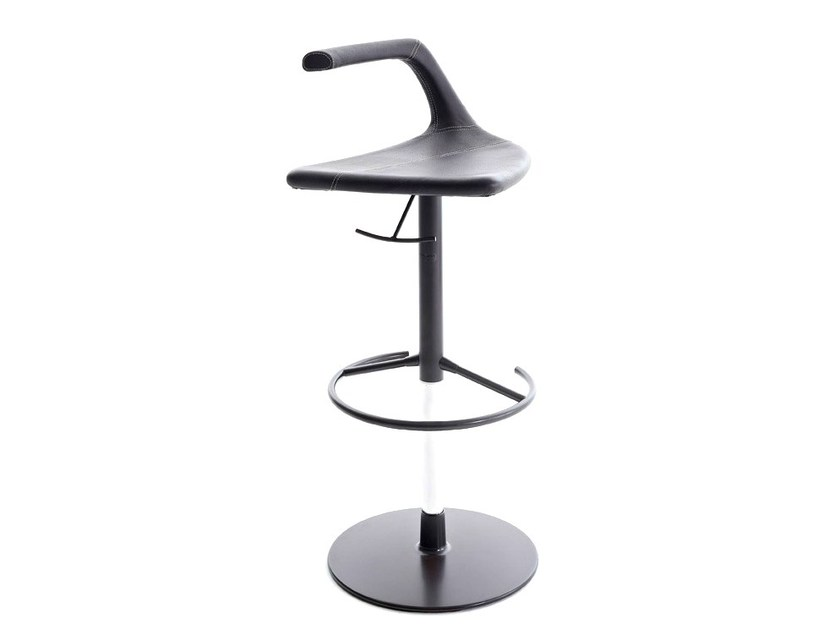 Height-adjustable stool with footrest GEO - Colico