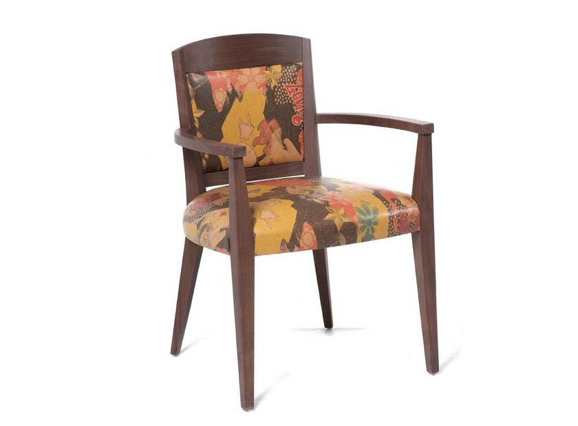 Upholstered chair with armrests ECO HOTEL | Chair with armrests - Fenabel - The heart of seating