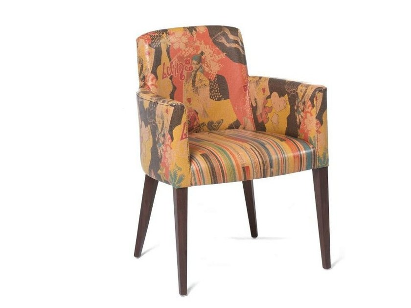 Upholstered easy chair with armrests ECO HOTEL MAPLE - Fenabel - The heart of seating