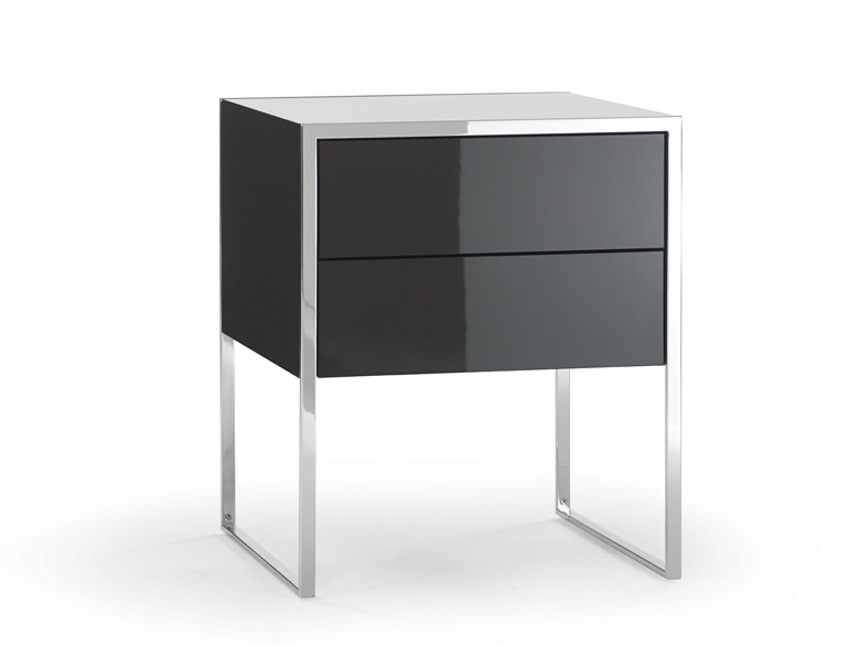 Rectangular bedside table with drawers SMART | Bedside table with drawers - YOMEI