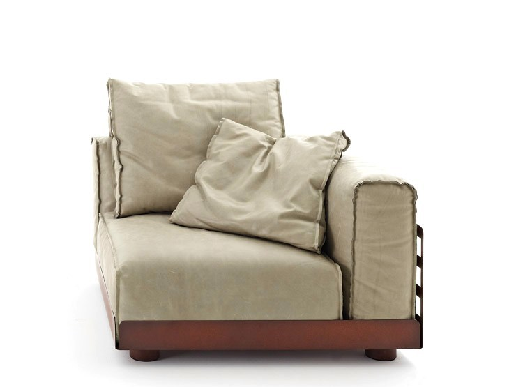 Corner sectional upholstered armchair ASAMI IRON | Upholstered armchair - Colico