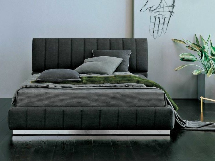 Double bed with adjustable headrest TENDER BARRÈ   Double bed by Twils