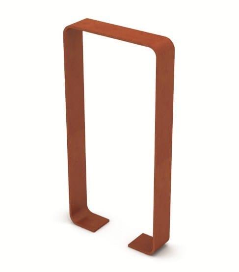 Rastrelliera in acciaio cornice lab23 gibillero design for Acciaio corten prezzo al kg