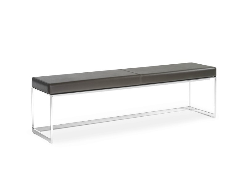 Upholstered leather bench SQUAT | Bench - YOMEI
