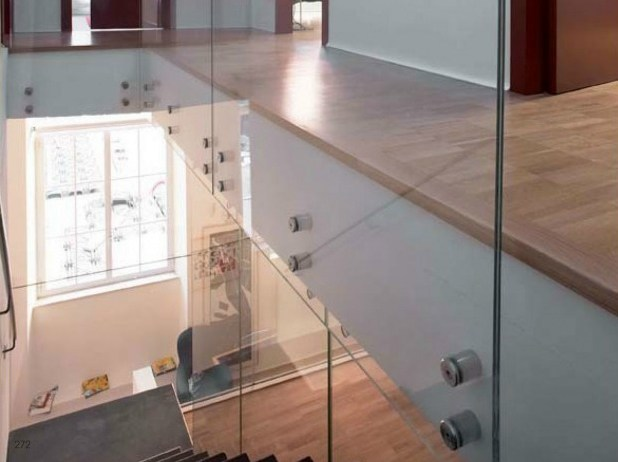 Stainless steel Balustrade fixing Point fittings - Metalglas Bonomi