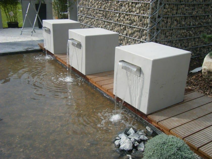 Outdoor wall tiles with concrete effect IMI-OUTDOOR - LEGNOPAN