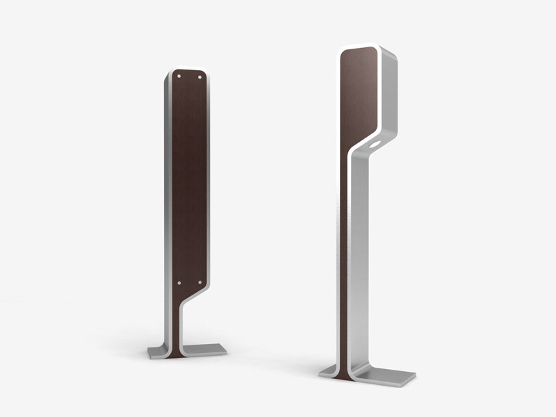 Steel Bicycle rack / bollard OMEGA-P BY NIGHT - LAB23 Gibillero Design Collection