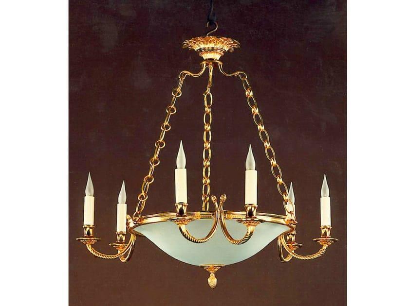 Bronze chandelier 30989 | Chandelier by Tisserant