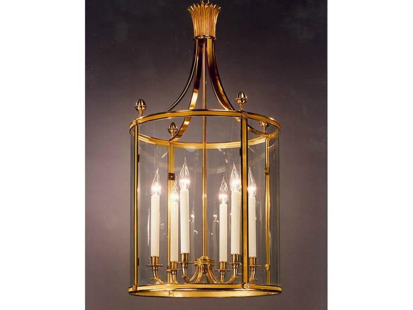 Bronze chandelier 34514TER | Chandelier by Tisserant