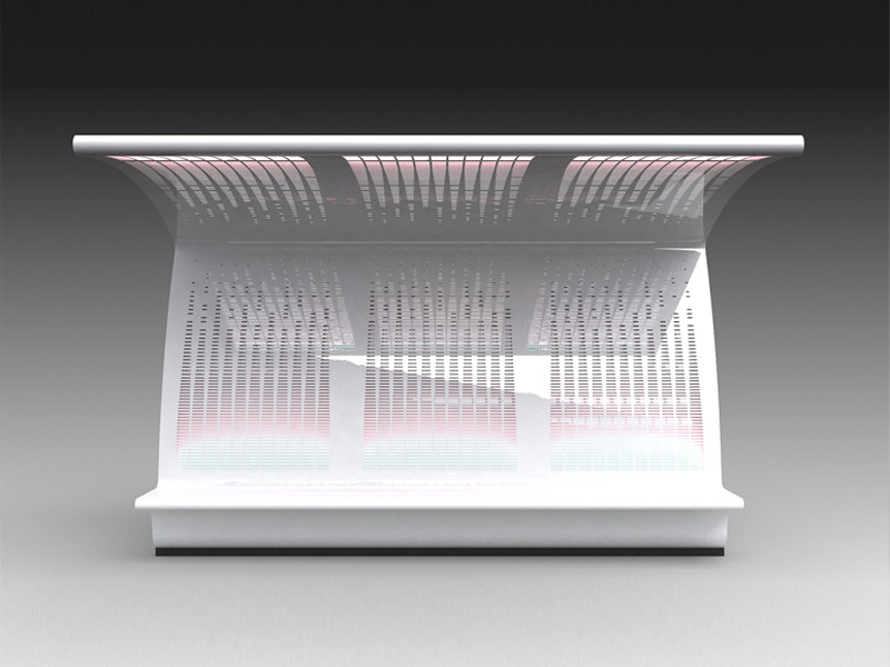 Steel porch with built-in lights for bus stop SETTE - LAB23 Gibillero Design Collection