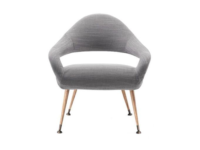 Fabric easy chair with armrests LETIZIA | Fabric easy chair - Poltrona Frau