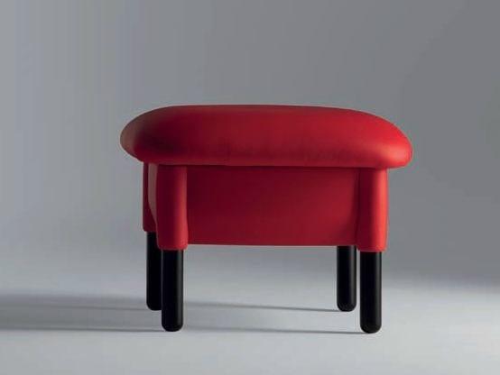 Leather pouf / footstool SANLUCA | Pouf - Poltrona Frau
