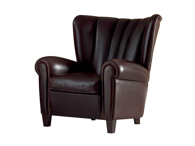 Leather armchair SAVINA - Poltrona Frau