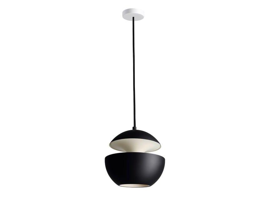 HCS BL–WH Ø175 Black satin aluminium/White ceiling cup/Inside white