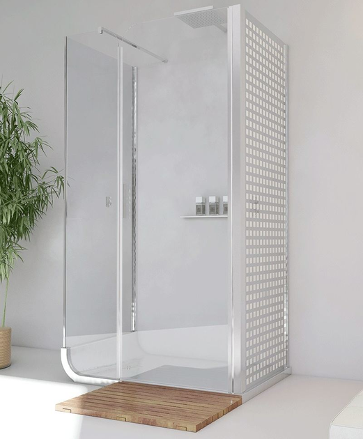 Free standing shower cabin with tray CURVE AN + F2 + F3 - RELAX