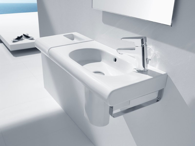 Wall-mounted washbasin NEW MERIDIAN COMPACT | Washbasin by ROCA SANITARIO