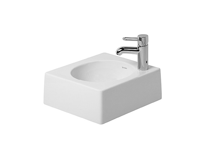 Architec countertop washbasin by duravit design frank huster for Duravit architec toilet