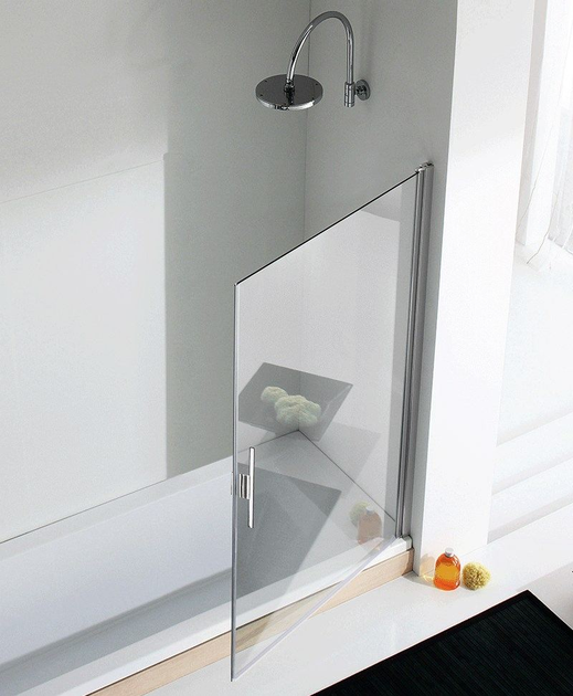 Glass and aluminium bathtub wall panel LIGHT VP2 - RELAX