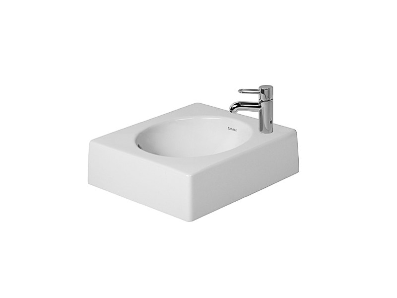 Countertop grinded ceramic washbasin ARCHITEC | Countertop washbasin by Duravit