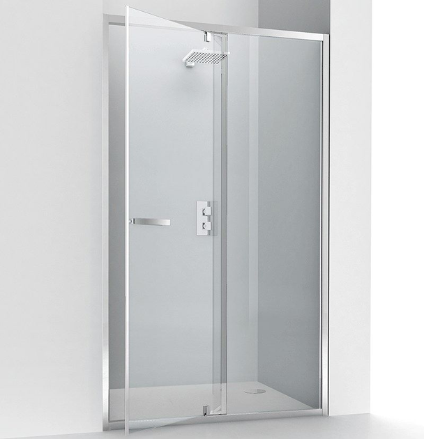 Niche glass and aluminium shower cabin with pivot door EVOLUTION PB - RELAX