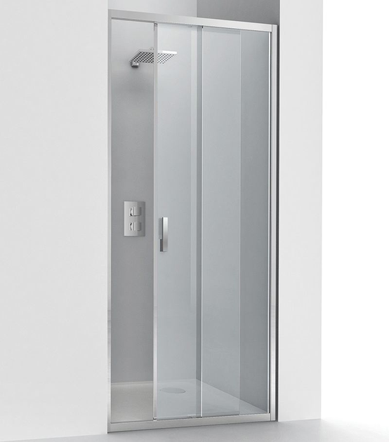 Niche glass and aluminium shower cabin with sliding door EVOLUTION SC1 - RELAX