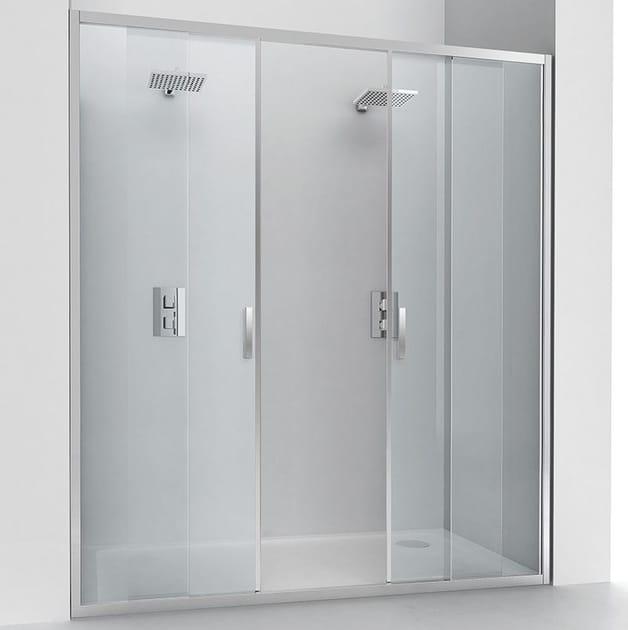 Niche crystal shower cabin with sliding door EVOLUTION SC2 - RELAX
