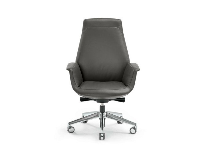 Task chair with casters DOWNTOWN | Task chair - Poltrona Frau