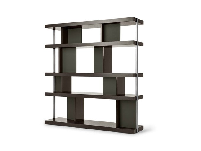 Double-sided wooden bookcase JOBS | Double-sided bookcase by Poltrona Frau