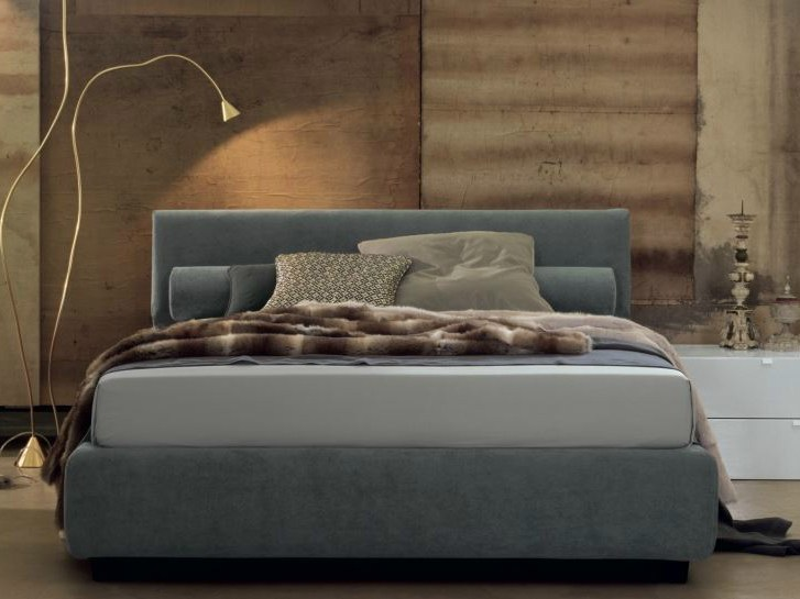 Double bed with upholstered headboard DYLAN - Twils