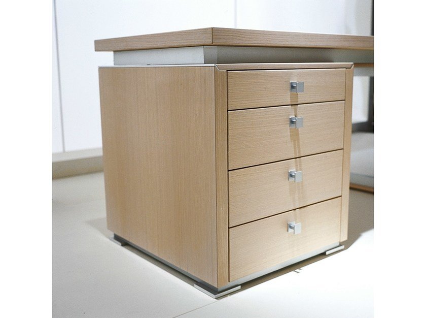 Wood veneer office drawer unit ELECTA | Office drawer unit - IFT