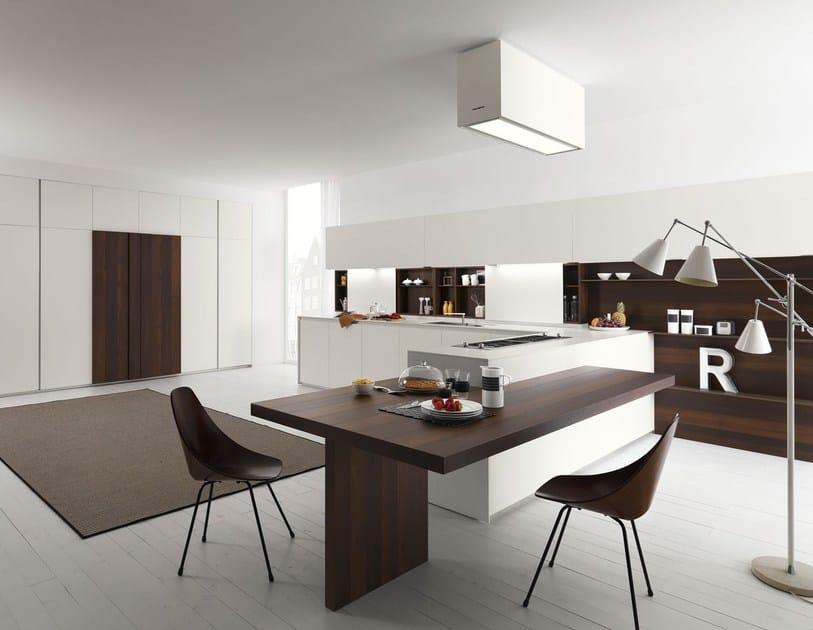 Cucina in acacia con penisola axis 012 cucina con - Immagini cucine con penisola ...