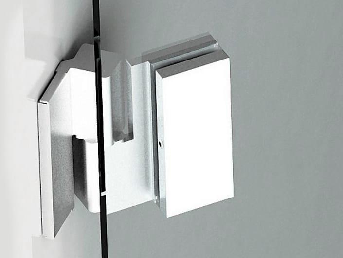 Glass door hinge B-501 DX-SX - Metalglas Bonomi
