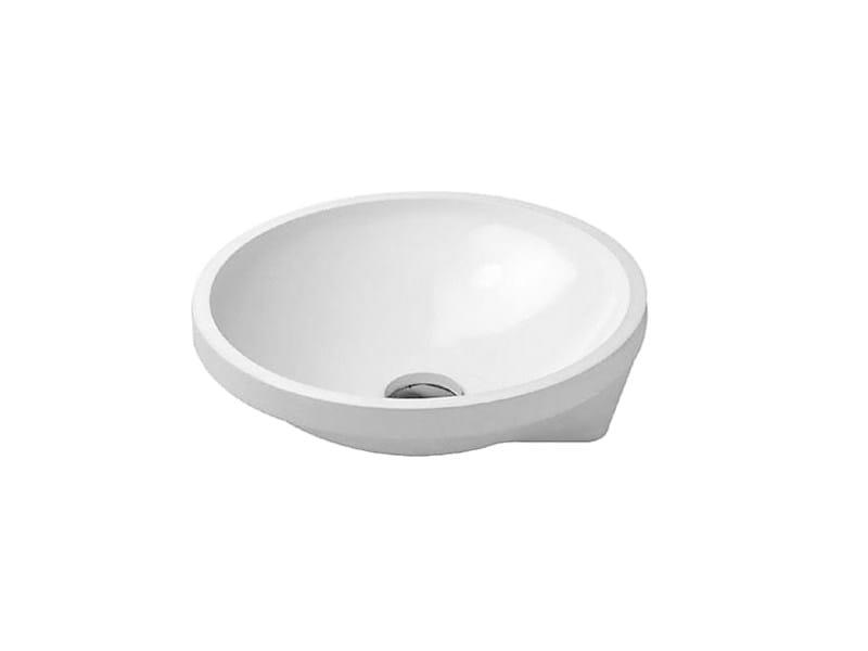 Undermount round ceramic washbasin ARCHITEC | Undermount washbasin by Duravit