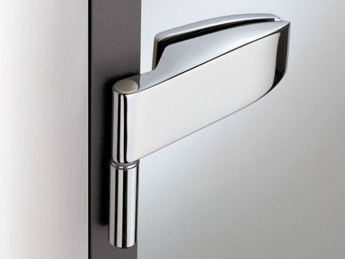 Glass door hinge V-102 | Hinge - Metalglas Bonomi