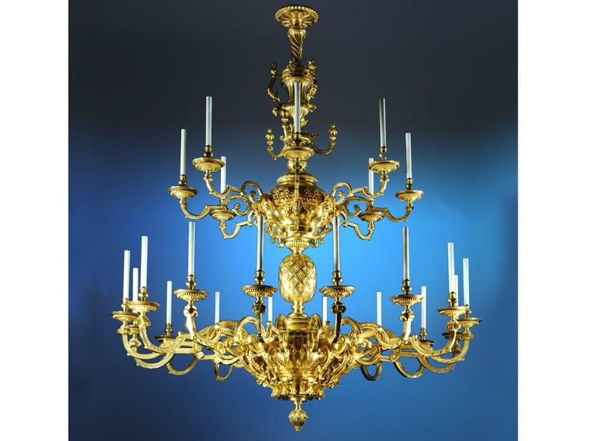 Bronze chandelier 14103 | Chandelier by Tisserant