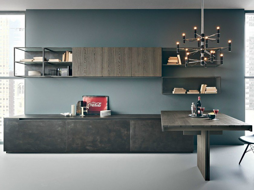 Wall-mounted storage wall FIFTY | Composition 05 by Zampieri Cucine
